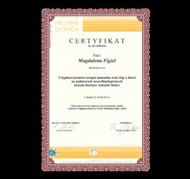 Certyfikat M. Figiel Trójpłaszczyznowa terapia manualna wad stóp
